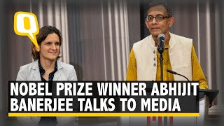 Abhijit Banerjee Talks to Media After Winning 2019 Nobel Prize For Economic Sciences
