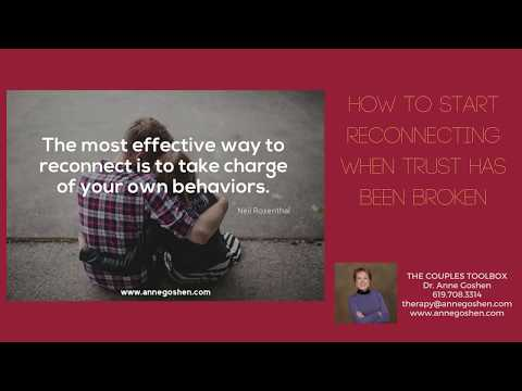 How To Restore Trust