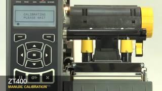 Gambar cover Zebra ZT400 Series: How-to Manually Calibrate