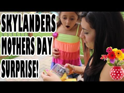 Skylanders Mothers Day Surprise Trick - Stone Zook / GITD Sonic Boom Gifting (part 2 of 2)