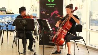Tasmanian Symphony Orchestra Musicians Performance At Hobart Airport