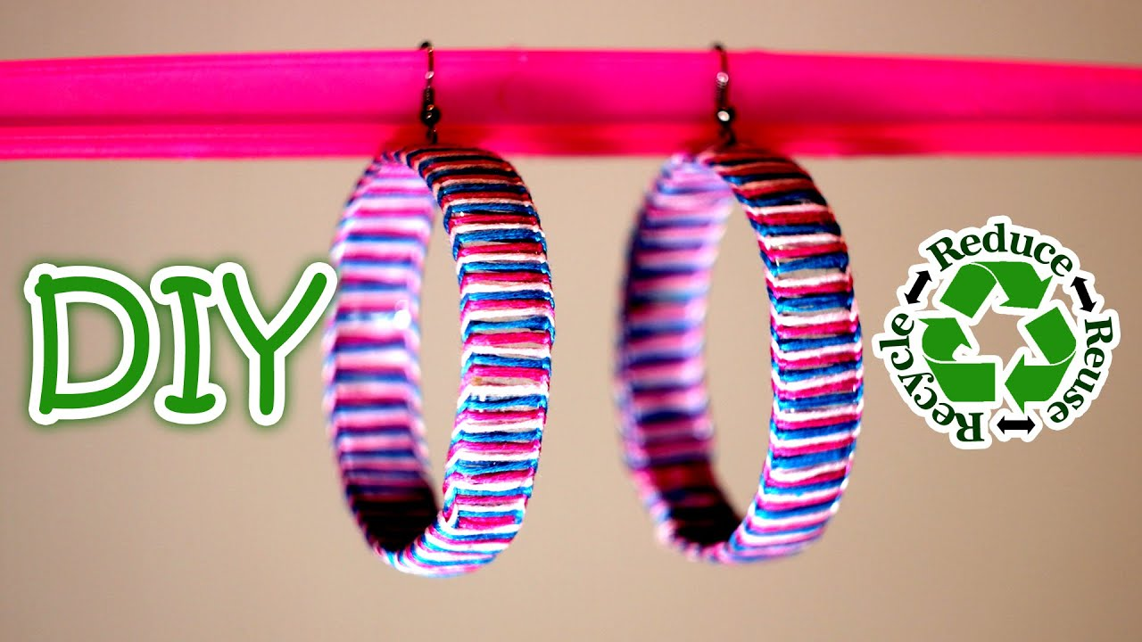 Diy earrings out of a recycled plastic bottle youtube for Things to make out of plastic bottles