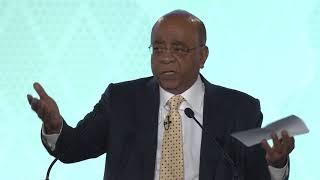 Mo Ibrahim at the 2018 Leadership Ceremony in Kigali, Rwanda