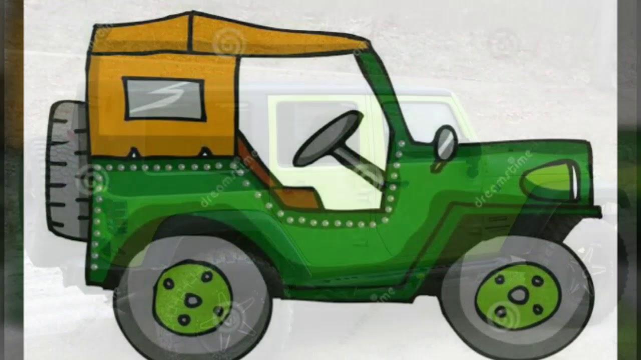 20 Gambar Kartun Mobil Jeep Kumpulan Gambar Kartun