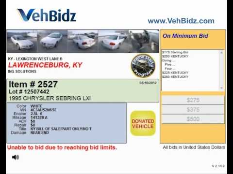 Online lots presented at Lexington auto salvage