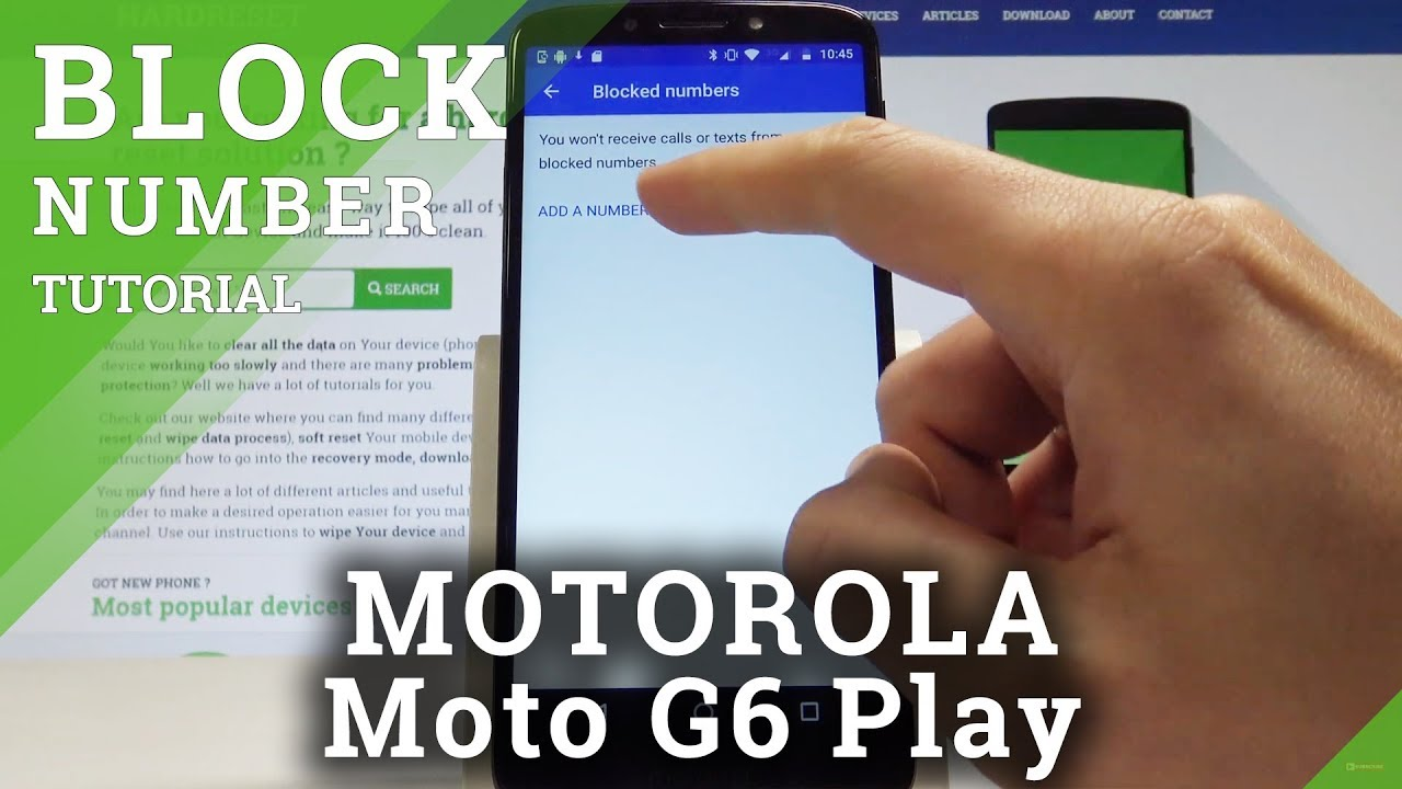 How To Block Number On Motorola Moto G6 Play Block Calls Sms Youtube