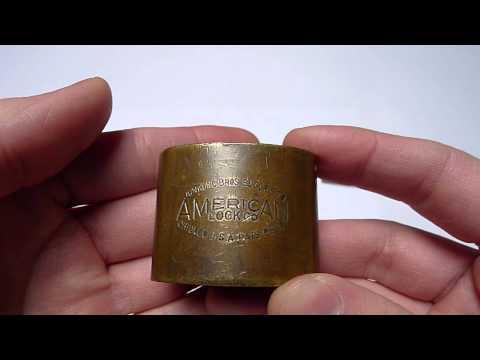 Old Junkunc Bros. American Lock Co. Padlock