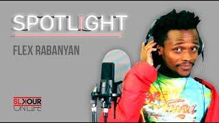 "We got our next spotlight guest and it's vuzu hustle's upcoming star, flex rabanyan recording his track ""dlala""."