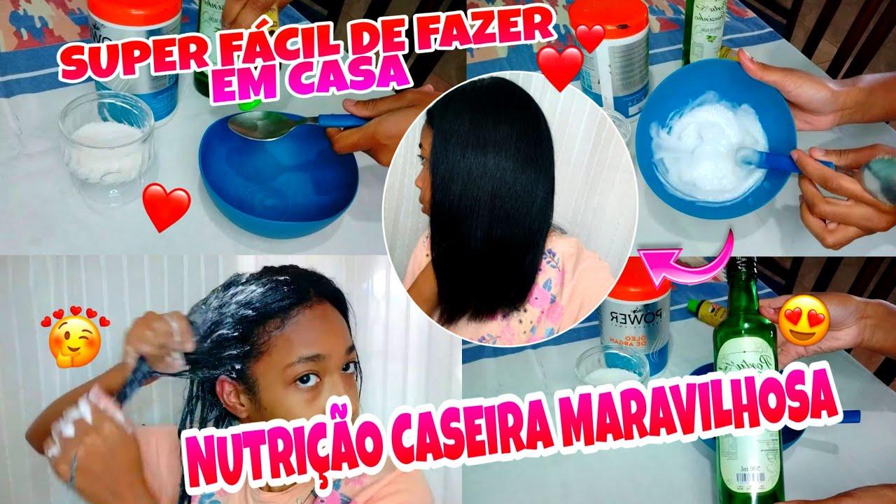 NUTRIÇÃO CASEIRA PERFEITA PARA CABELOS RESSECADOS !! MUITO FÁCIL DE FAZER   MARAVILHOSA !