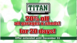 Titan Garages Sheds And Carports Celebrates 20 Years!