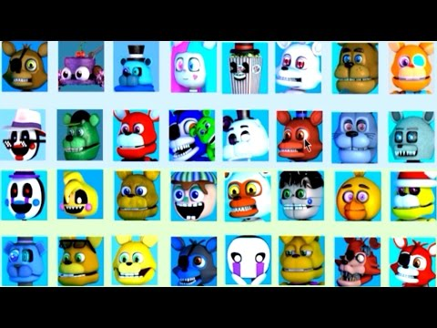 FNAF World ALL NEW Characters (Deviant Animatronics)