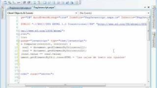 Comparar Cajas de Texto con javascript en un aspx (ASP.NET)