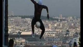 Football freestyle street artist Iya Traore Paris Sacre Coeur