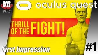 The Thrill of the Fight / Oculus Quest / First Impression / German / Deutsch / Spiele / Test