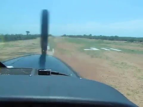 Bushplane takeoff Fothergill Island Kariba Zimbabwe.