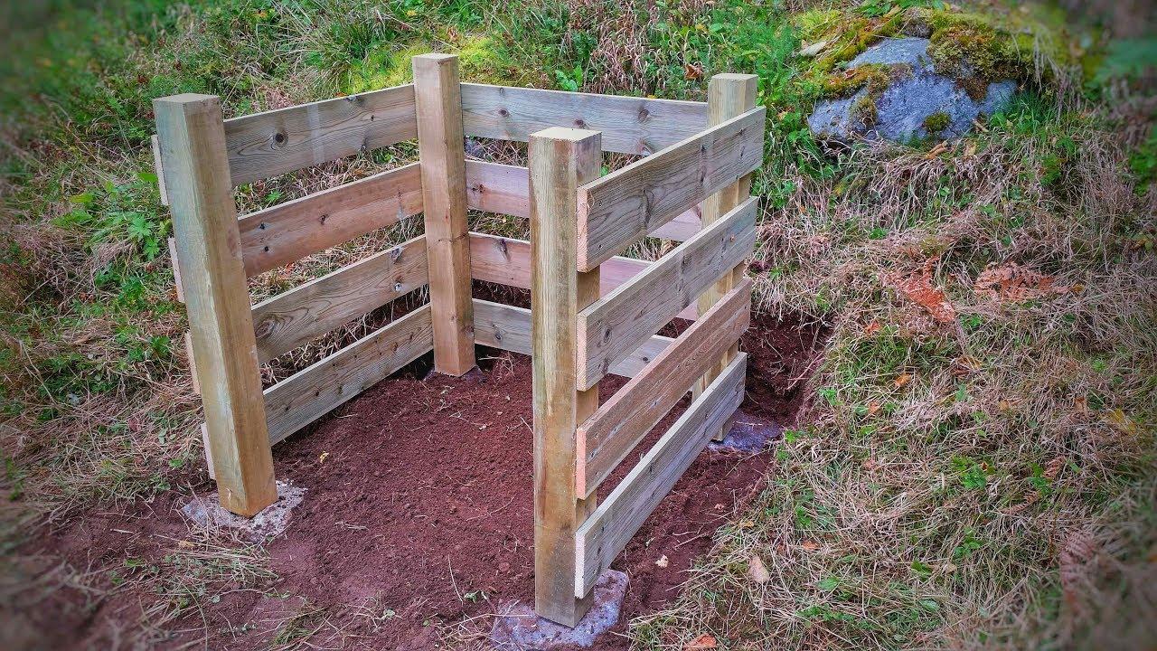 Einfacher Komposthaufen Aus Holz Selber Bauen Youtube