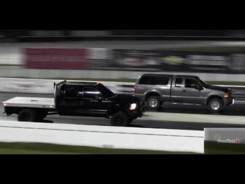 Truck Battle! Ford F350 Turbo Diesel vs F250 Turbo Diesel ...