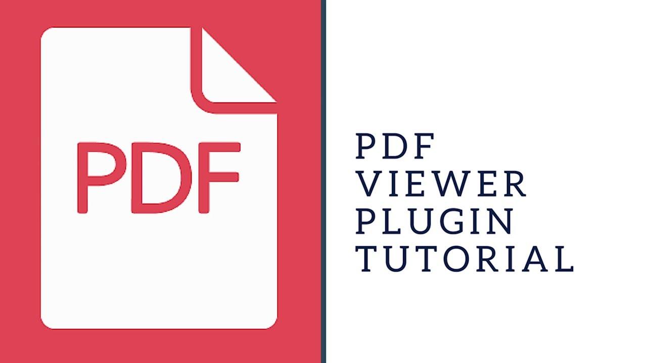 PDF Viewer Plugin Tutorial