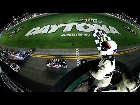Dale Jr. gets win, Dillon OK after crazy crash