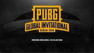 [RU] PUBG Global Invitational — Berlin 2018 # Day 1 (TPP)