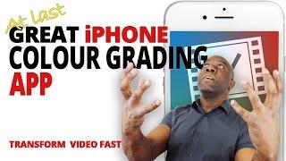 iPhone Colour Grading App VideoGrade