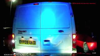 Police Vehicle Rammed by White Van - Salford