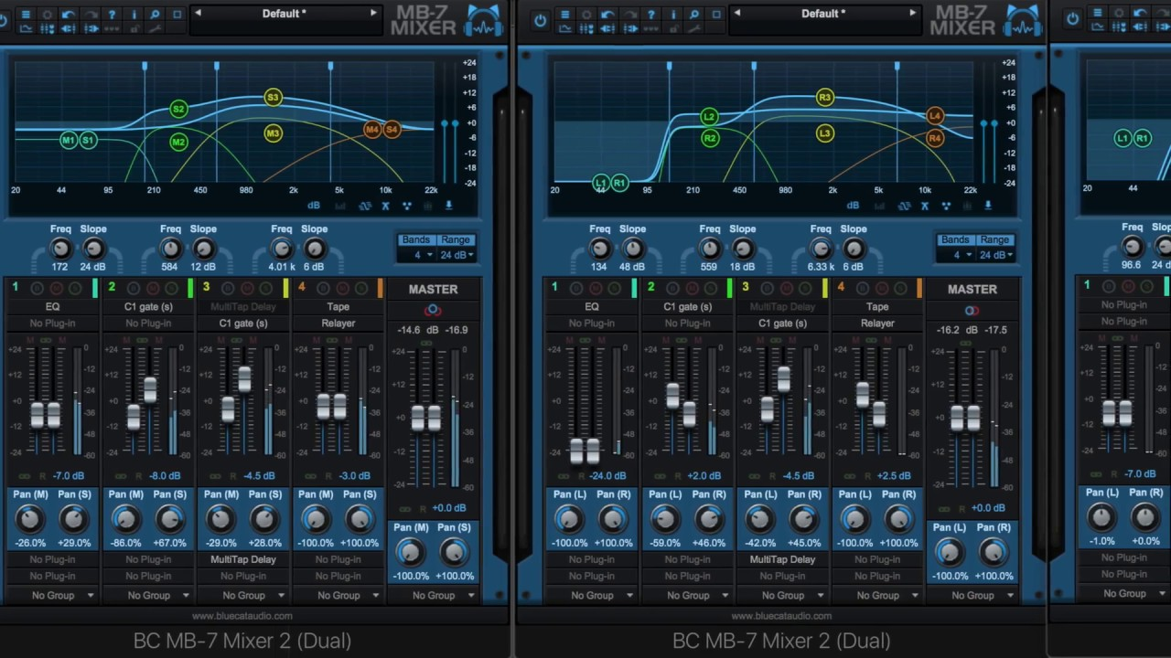 Free Update for Blue Cat's MB-7 Mixer and MB-5 Dynamix Available now