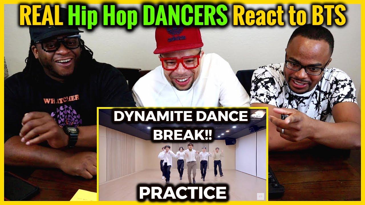 REAL Hip Hop DANCERS React to BTS 2020 MMA 'Dynamite' DANCE BREAK Practice!!