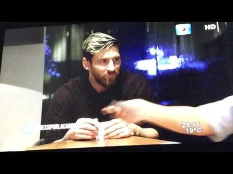 Messi y Luis Suárez entrevista, funny interview with Luis Suarez and Messi