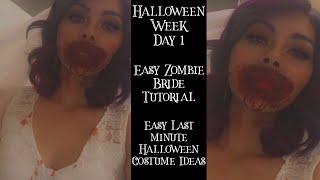 Zombie Bride Tutorial | Easy Last minute halloween costume ideas