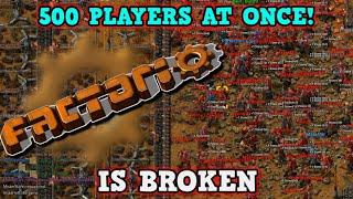 FACTORIO IS A PERFECTLY BALANCED GAME WITH NO EXPLOITS - 500 Players Is Broken Strategy