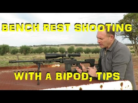 Shooting with a Bipod on a Bench