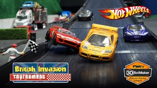 Hot Wheels British Car Race (R1 H5-67) Diecast Tournament Racing