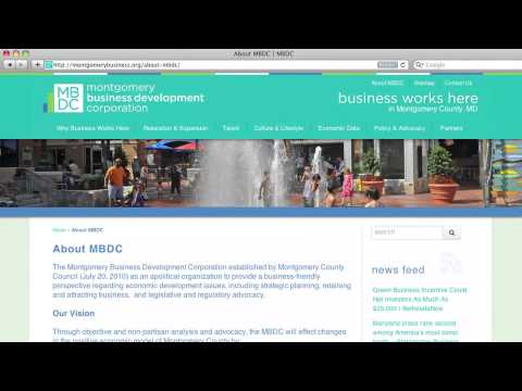 Holly Sears Sullivan Discusses Montgomery Business Development Corporations Website