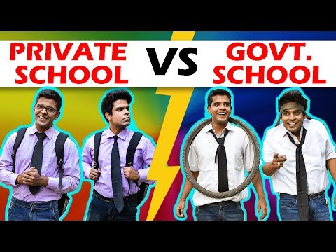 PRIVATE SCHOOL vs GOVERNMENT SCHOOL | The Half-Ticket Shows