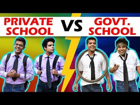 PRIVATE SCHOOL vs GOVERNMENT SCHOOL   The Half-Ticket Shows