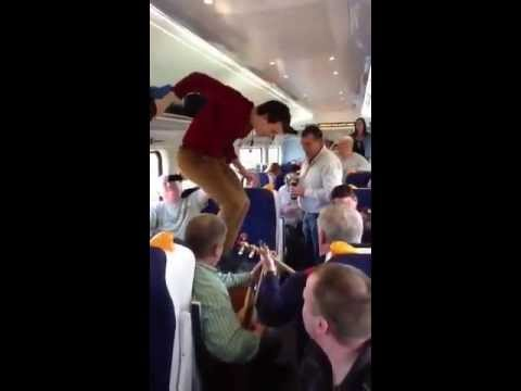 Incredible Irish Dancing & Trad Session on Dublin Train to Galway