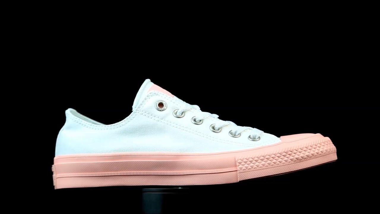 converse blanca y rosa