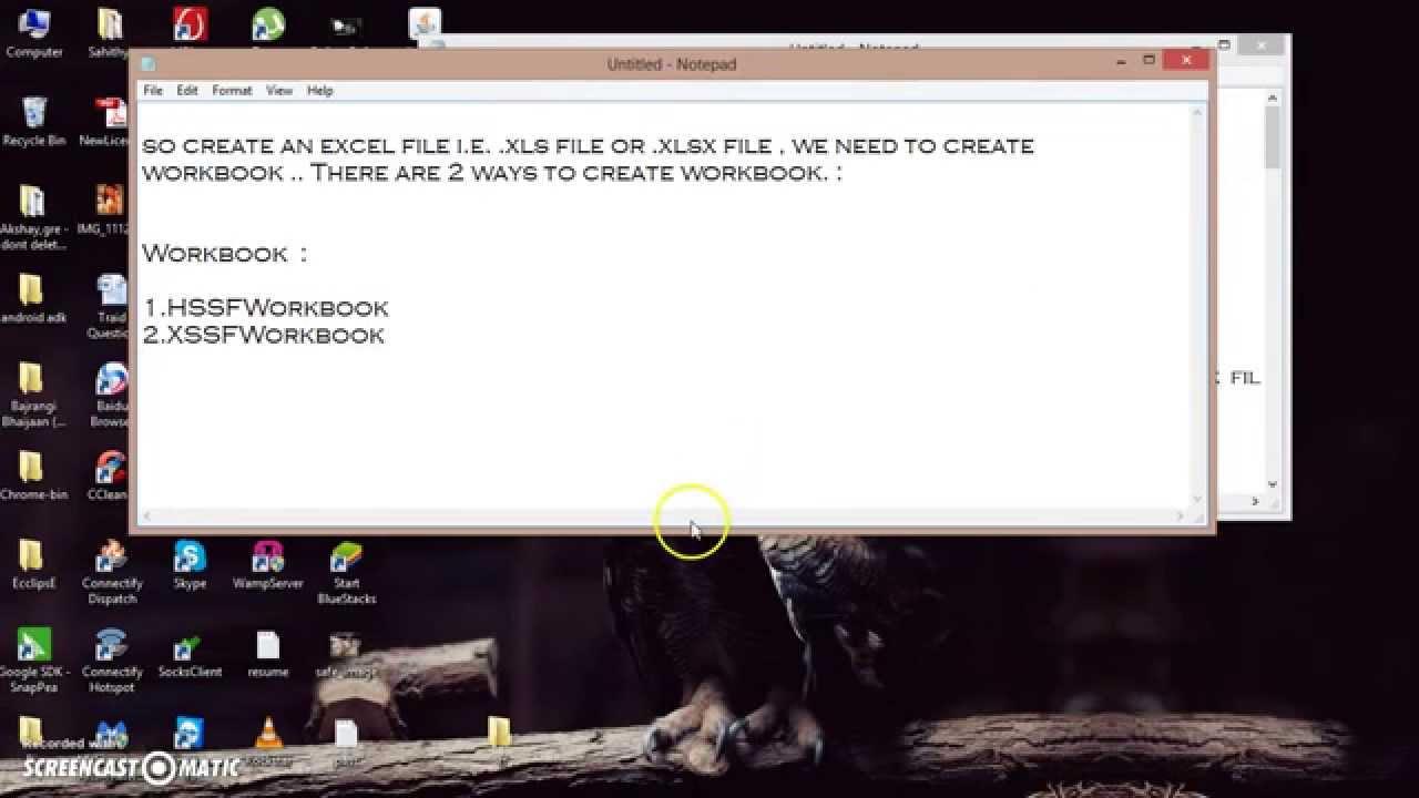 Create Excel File Using Java - YouTube