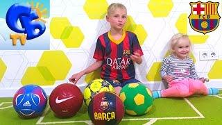 Огромный футбольный мяч обзор мячей Адидас Найк Демикс Big review soccer balls  Adidas Nike Demix