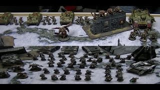 7th Edition 40K Battle Report : Chaos Marines vs Space Marines