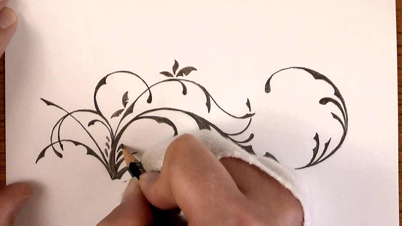 Drawing Time Lapse a simple Floral Design with Pencil YouTube