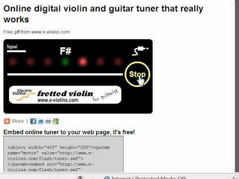 Online Violin and Guitar Tuner on www.e-violins.com