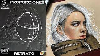 ROSTROS PERFILADOS/ COMO SACAR LAS PROPORCIONES DE UN ROSTRO 2.