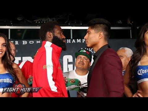 INTENSE! ADRIEN BRONER VS. MIKEY GARCIA FULL FACE OFF - FINAL PRESS CONFERENCE