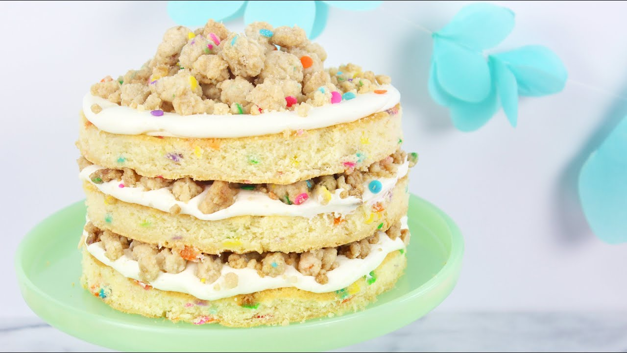 How To Make A Funfetti Birthday Cake Youtube