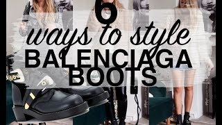 7 WAYS TO WEAR BALENCIAGA BOOTS | LOOKBOOK & TRY ON | SINEAD CROWE