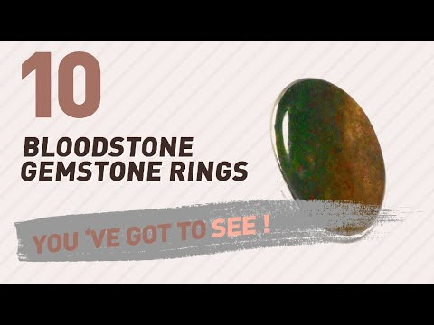 Bloodstone Gemstone Rings Top 10 Collection // UK New & Popular 2017