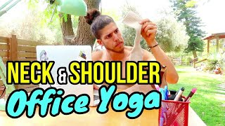 📎 Office Yoga Exercise For Neck And Shoulder Relief 💻