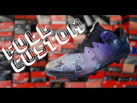 Galaxy Themed Football Cleats by WH Custom Kicks | Full Custom